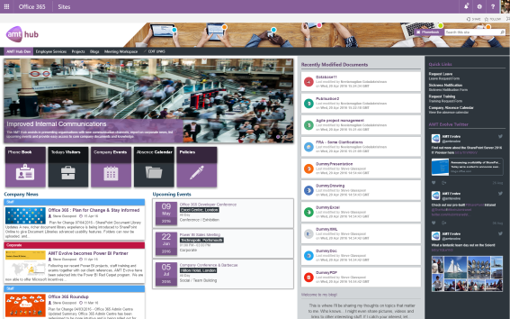 The Hub SharePoint Intranet