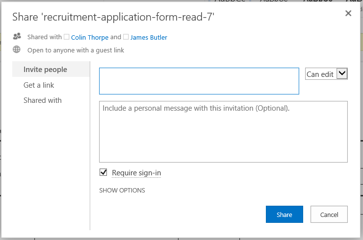 Office sharing options