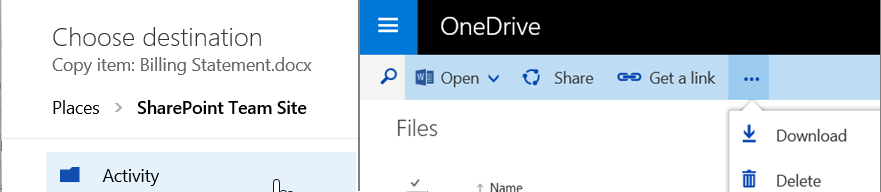 Copy From OneDrive To SharePoint Banner