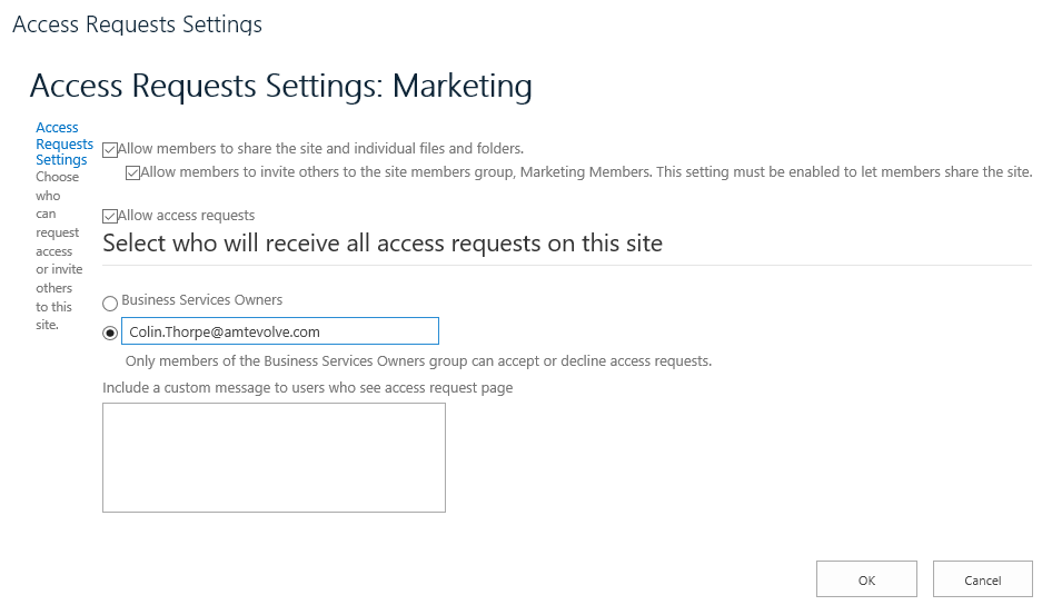 access-requests-settings