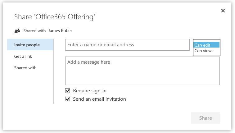 OneDrive for Business Sharing
