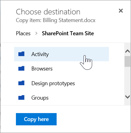 Copy from OneDrive To SharePoint 2