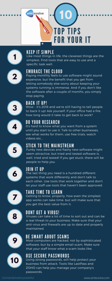 10 top tips for IT managers infographic